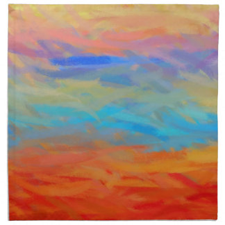 Multi Colors Abstract Art Painting 5 Napkin