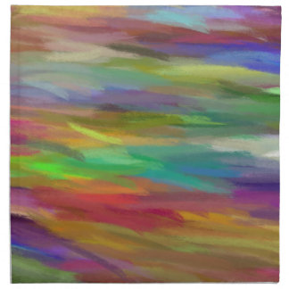 Multi Colors Abstract Art Painting 8 Cloth Napkin