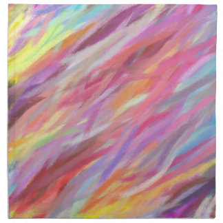 Multi Colors Abstract Art Painting 9 Napkin