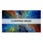 Multi Colors Abstract Art Painting Double-Sided Standard Business Cards (Pack Of 100)