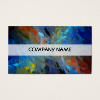 Multi Colors Abstract Art Painting Business Card