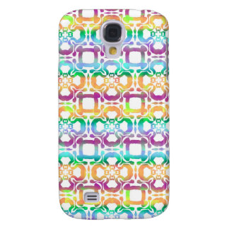 Multi Colors Abstract Tile Pattern Galaxy S4 Case