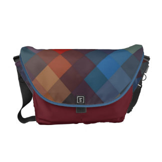 Multi Colors Diamond Seamless Pattern 3 Messenger Bag