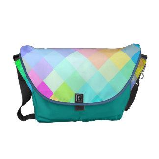 Multi Colors Diamond Seamless Pattern Messenger Bag