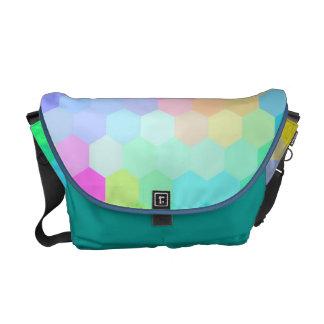 Multi Colors Hexagon Seamless Pattern Messenger Bag