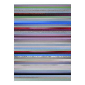 """Multi Colors 6.5"""" X 8.75"""" Invitation Card"""