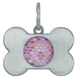 Multi Colors Ovals. Links On African Violet Pet Tag