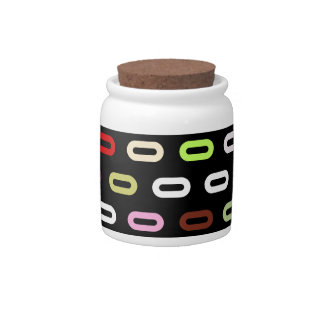 Multi Colors Ovals Links On Black Background Candy Jars