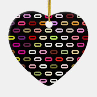Multi Colors Ovals Links On Black Background Ornaments