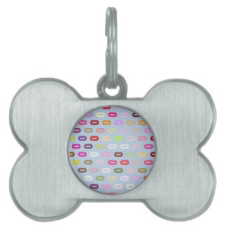Multi Colors Ovals. Links On Blue Sky Background Pet ID Tags