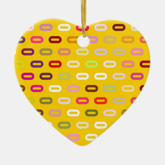 Multi Colors Ovals Links On Canary Yellow Pattern Ornaments