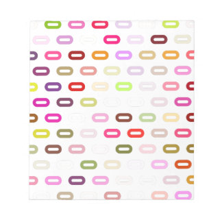 Multi Colors Ovals. Links On White Background Scratch Pad