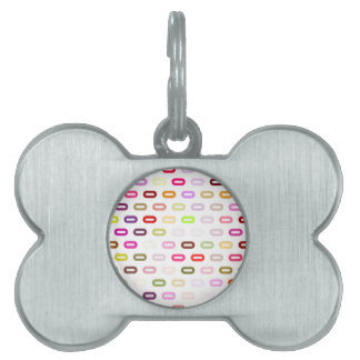 Multi Colors Ovals. Links On White Background Pet Tags