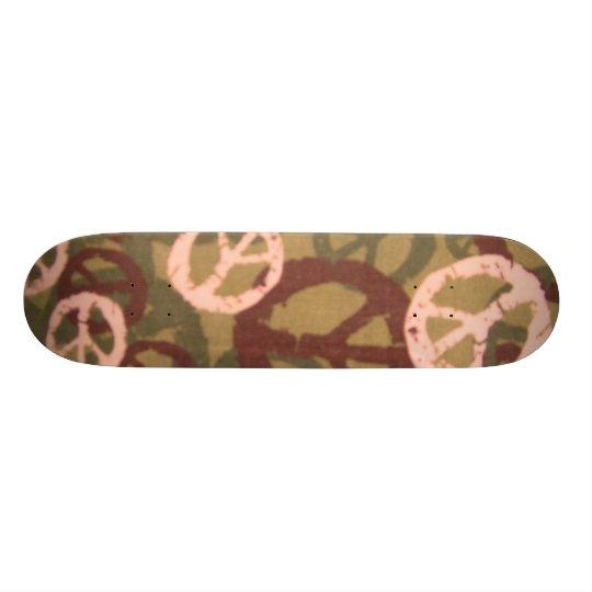Multi Colors Peace Signs/Camo Look Skateboard