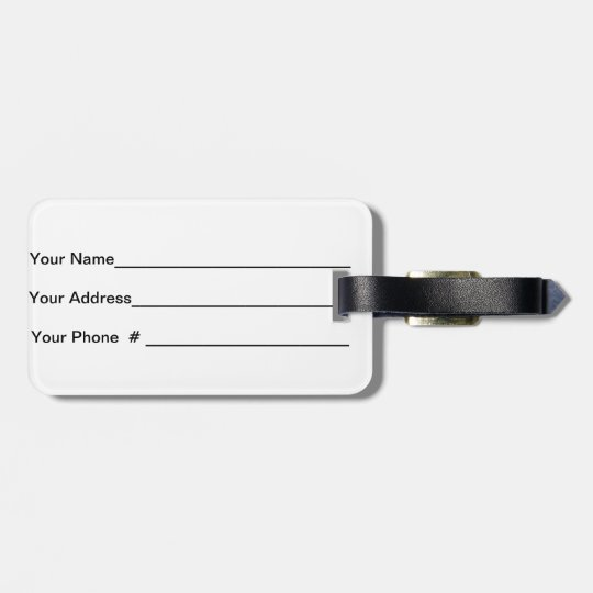 Multi Colors Pink Green Blue Yellow Luggage Tag