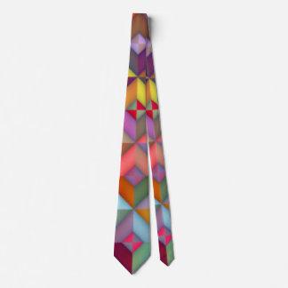 Multi colors Square Checks Pattern Print Design Neck Tie