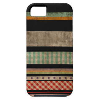Multi Colors Striped Abstract Art Black iPhone 5 C iPhone 5 Cases