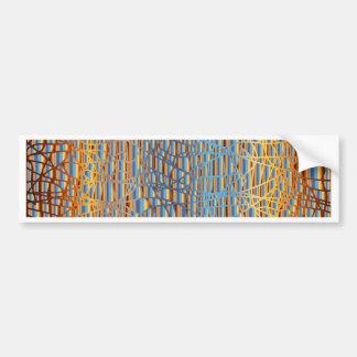 Multi Colour Background Bumper Sticker