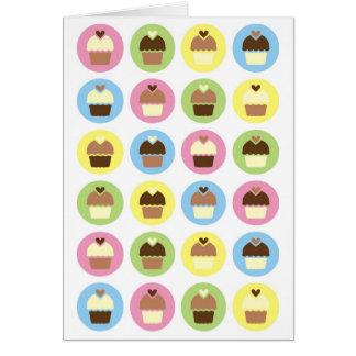 Multi-Colour Chocolate Cupcakes Notecard