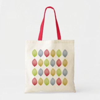 multi colour leaves - tote shopper bag