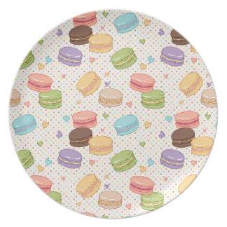 multi colour,macaroon,hearts,polka dot,pattern,fun dinner plates