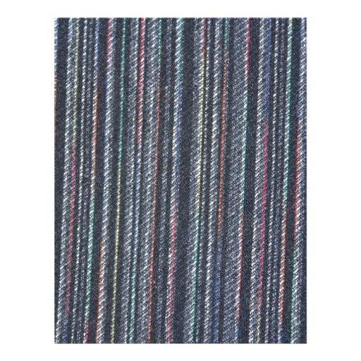 Multi Colour Pin Stripe Cloth Letterhead Template