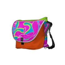 Multi-Coloured Abstract Rickshaw Messenger Bag