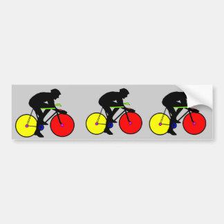 Multi coloured bicycle bike t-shirt car bumper sticker