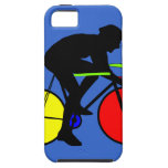 Multi coloured bicycle bike t-shirt iPhone SE/5/5s case