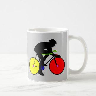 Multi coloured bicycle bike t-shirt coffee mug