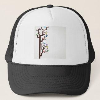 Multi Coloured Birds in Tree Trucker Hat