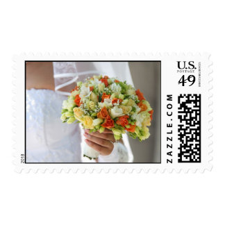 Multi-coloured bouquet 1. postage stamp