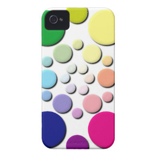 Multi-coloured Circles Pattern iPhone 4 Case-Mate Cases