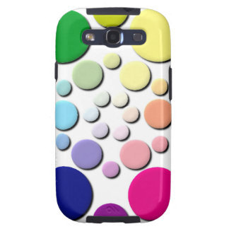 Multi-coloured Circles Pattern Samsung Galaxy SIII Cover