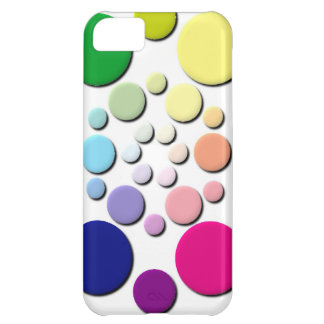 Multi-coloured Circles Pattern iPhone 5C Cover