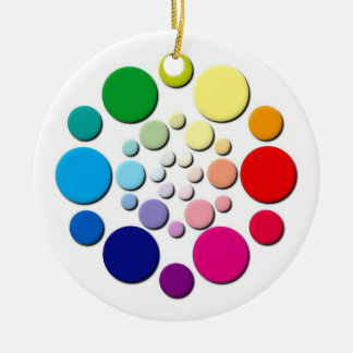 Multi-coloured Circles Pattern Christmas Tree Ornament