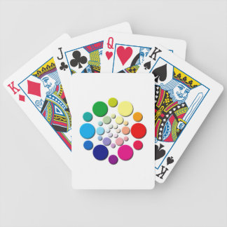Multi-coloured Circles Pattern Bicycle Playing Cards