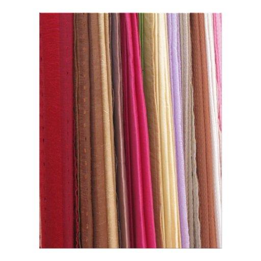 Multi Coloured Cloth Fabric Pattern Letterhead Design