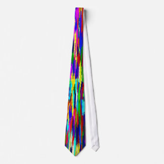 Multi-Coloured Crystals Pattern Neck Tie