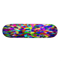 Multi-Coloured Crystals Pattern Skateboard Deck