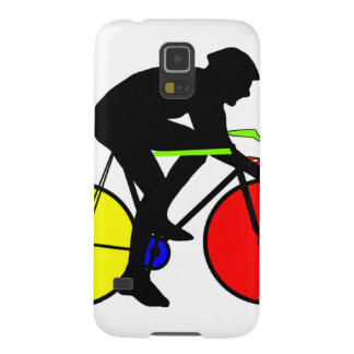 Multi coloured cycling bike galaxy s5 case