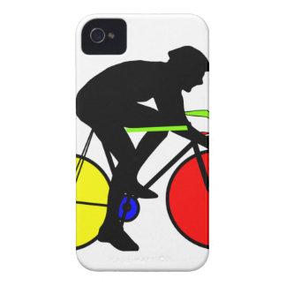 Multi coloured cycling bike iPhone 4 Case-Mate case
