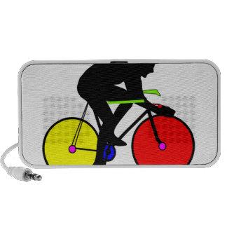 Multi coloured cycling bike mp3 speakers