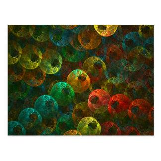 Multi Coloured Eyes Postcard