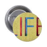 Multi-Coloured Life Vintage Style Motivation Pins