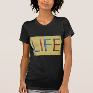 Multi-Coloured Life Vintage Style Motivation T-Shirt