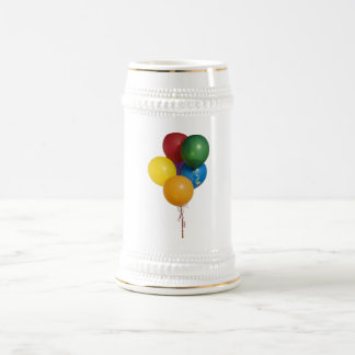 Multi Coloured Party Balloons Beer Stein