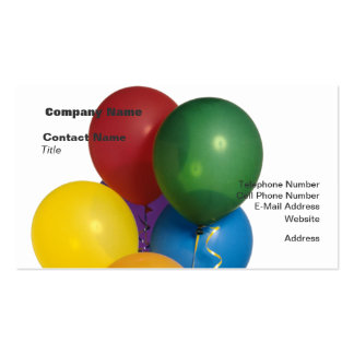 Multi Coloured Party Balloons Business Card