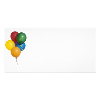 Multi Coloured Party Balloons Card