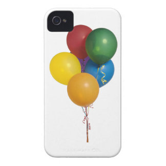 Multi Coloured Party Balloons iPhone 4 Covers